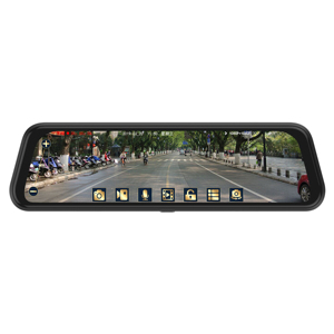 "9.66"" IPS Rear View Mirror Monitor Full HD 1080P Night Vision Dash Cam Camera Auto Driving Recorder G-Sensor"
