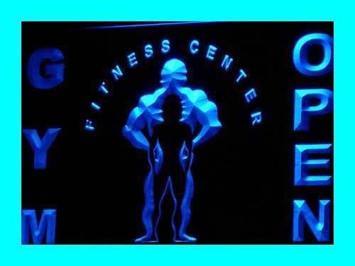 ADV PRO i321-b GYM Fitness Center OPEN Centre Neon Light Sign