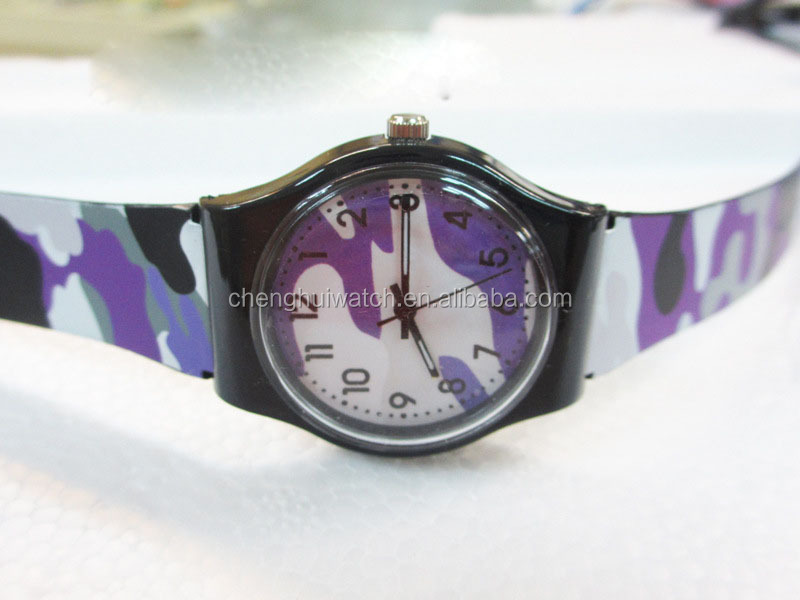 most hot sell gift cheap watch made of pvc and plastic