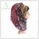 Fashion ombre purple leopard printed voile scarf hijab
