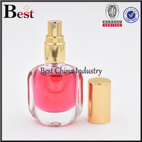 unique flat glass perfume packaging for perfume sample china factory