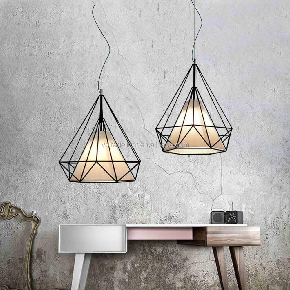 Heet verkoop moderne vintage industri le loft zwarte draad lamp hanglamp voor eetkamer - Licht industriele vintage ...