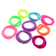2018 Fancy colored women elastic rubber hair bands