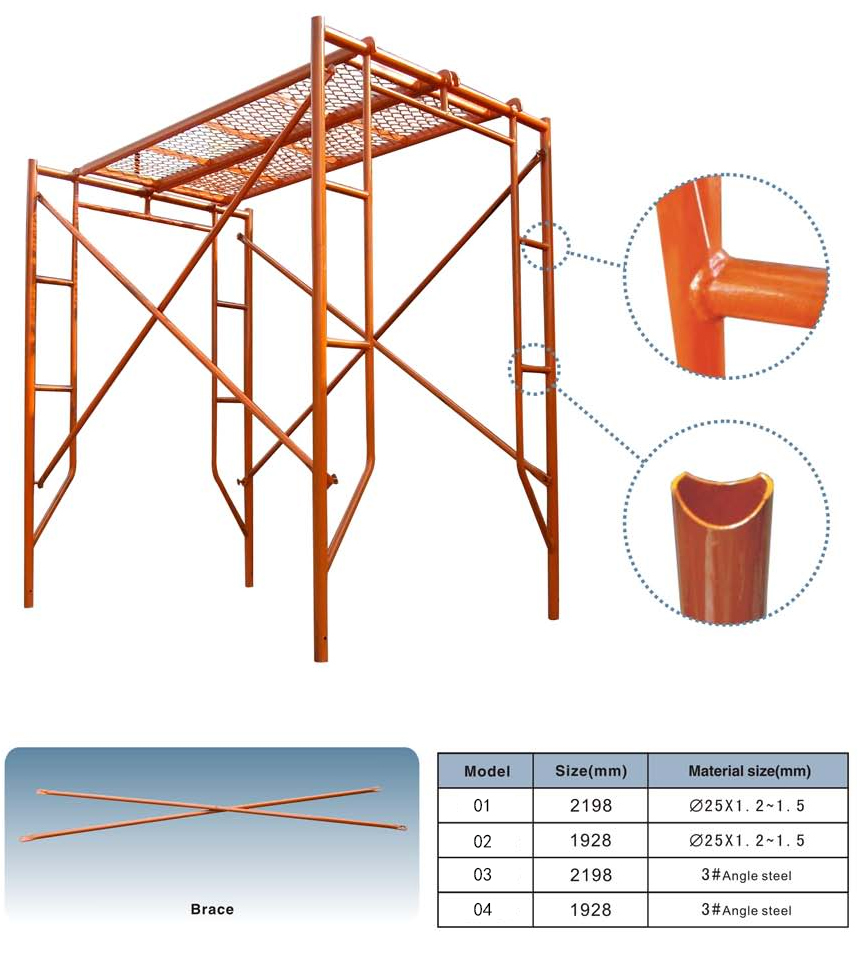 Different Types Of Scaffolding : Ladder h and door tubular steel metal a frame scaffolding