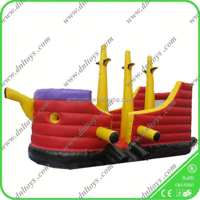 giant pirate ship inflatale bouncer slide inflatable combo