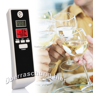 2017 Best Sell Breath Alcohol Tester PFT661S with Red Backlight and LCD Display, Digital Alcohol Tester for Safe Drive