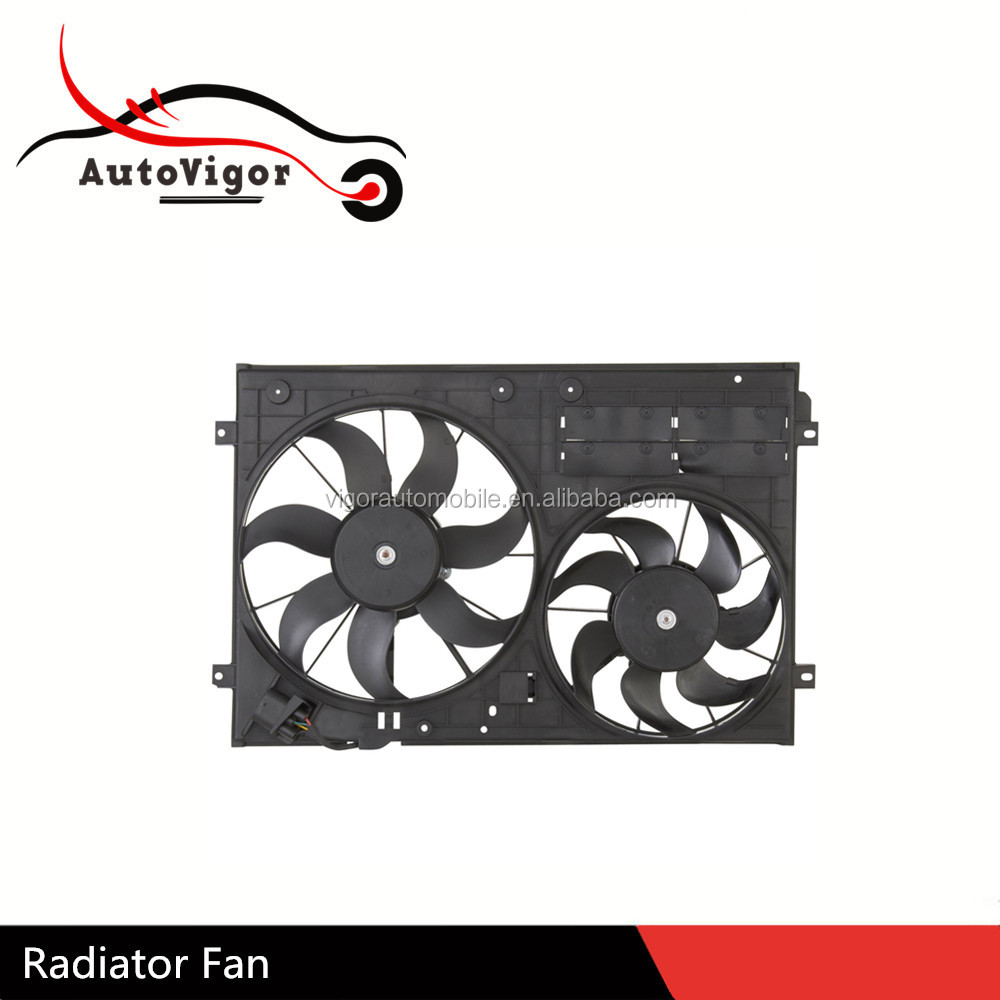 Electric Fan Radiator OEM 1K0121205J 1K0121205AD 1K0121205AB 1K0959455N 1K0959455DT 1K0959455FJ