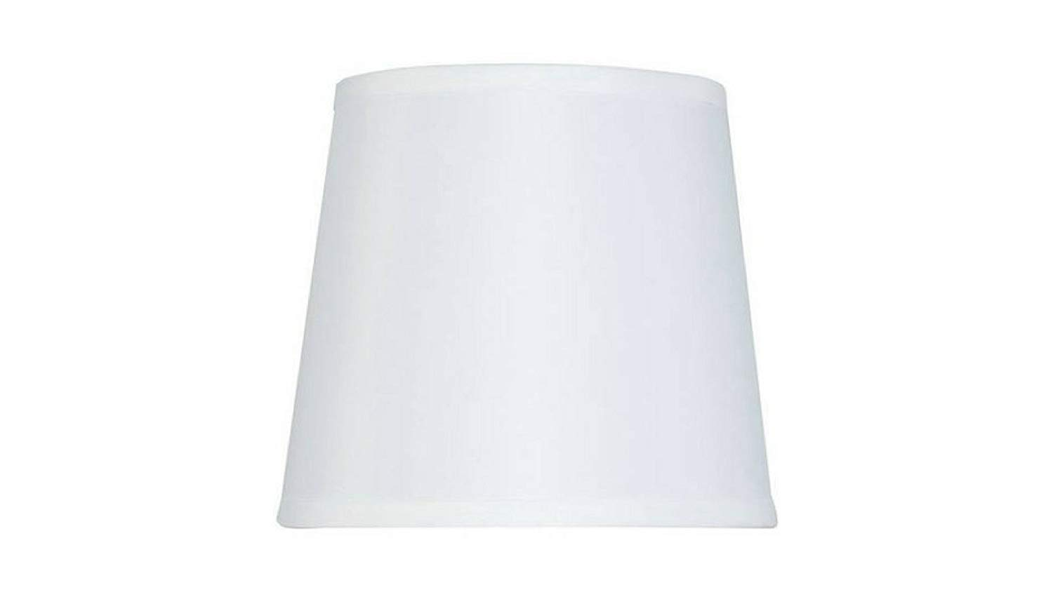 Drum Lamp Shade Hard Back White