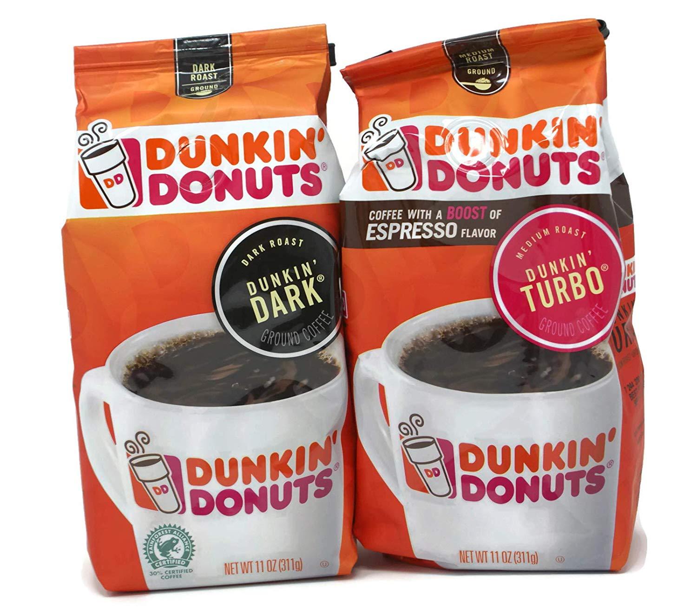 General Variety Pack - Dunkin Donuts Ground Coffee (11oz) - Dunkin Dark, Dunkin Turbo