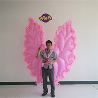 new design pink color inflatable wings costume