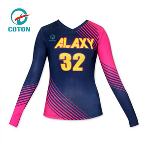 Sportswear manufacture sublimation athletic uniforms volleyball jersey