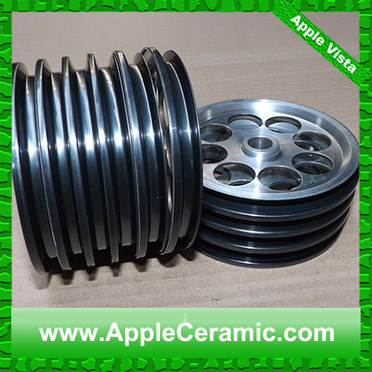 Customized Aluminum Pulley With Ceramic Coating Rope Guide Wheel ...