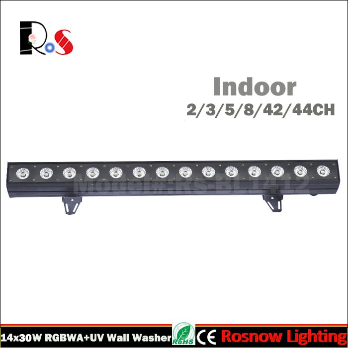 LED Indoor Lights for wedding event 14x30w rgb wall washer for bar party show Flow-water effects lighting