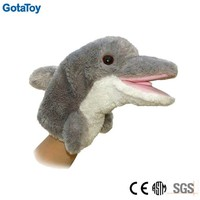 custom plush hand puppet dolphin soft toy