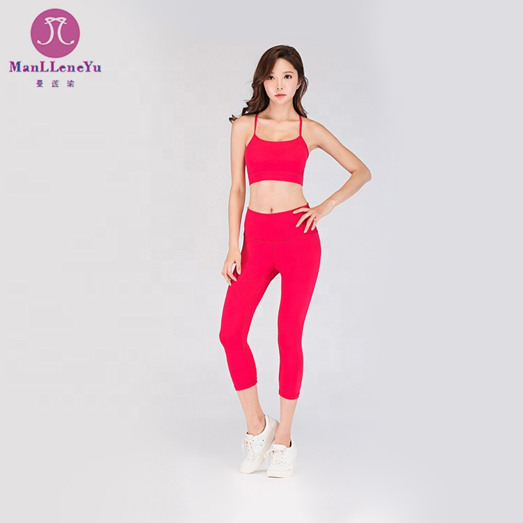 Private Label Dame Gym Kleidung Training Sport BH Top Yoga Hosen Leggings Fitness nahtlose Yoga tragen Frauen Sportbekleidung
