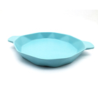 Compostable bamboo fiber baby dinner set kids dish matte color customize