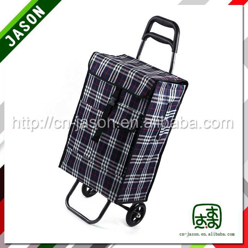 foldable hand cart plastic four wheeled shopping trolleys