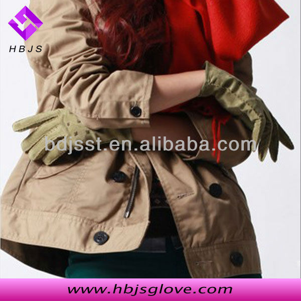 ladies dark green leather gloves manufacturer
