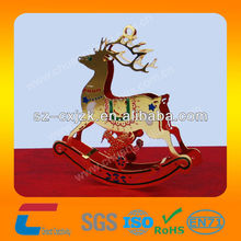 gold metal christmas deer