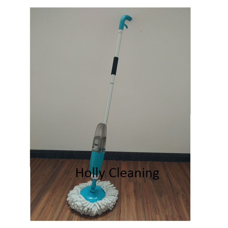 Water Spray squeezee mop Floor Cleaning Kit 360 Magic Cleaning Mop with Round Mop Head