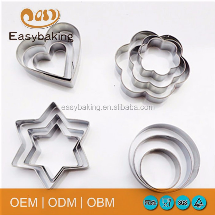stainless steel cookie cutter set 1-2
