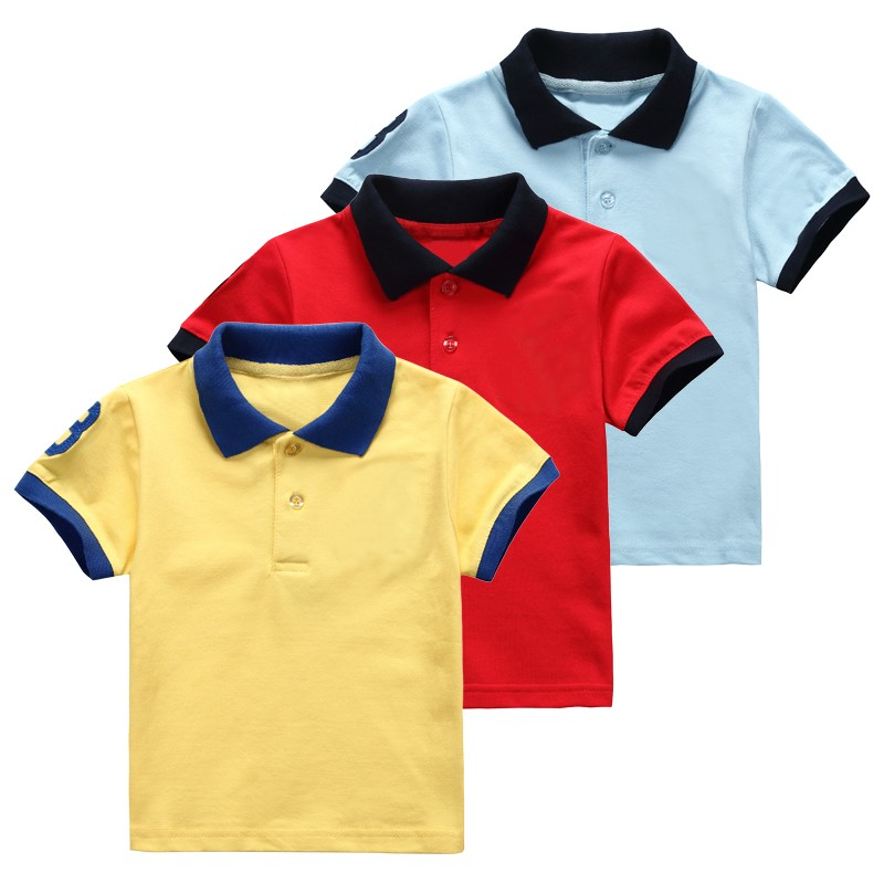 High quality embroidery children sport polo shirt design for High quality embroidered polo shirts