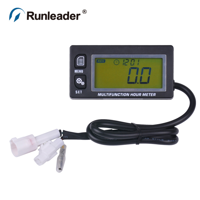 Digital Motorcycle Hour Meter Tachometer With Temperature Meter Used for Go Karting,Marine,Snowmobile,Motocross,Paramotor
