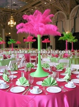 Por Hot Pink Ostrich Feather Centerpiece For Wedding Party Decoration