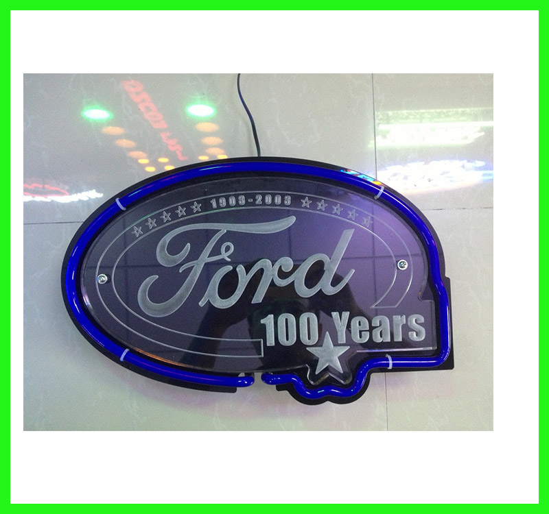 Ford neon <strong>sign</strong> with acrylic back board