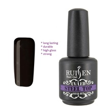 RUISEN 15 ml Durevole Rafforzare UV <span class=keywords><strong>Gel</strong></span> Facile Soak Off Nail Lacquer Non Pulire <span class=keywords><strong>Acciaio</strong></span> Inox Top <span class=keywords><strong>Gel</strong></span> Coat Smalto