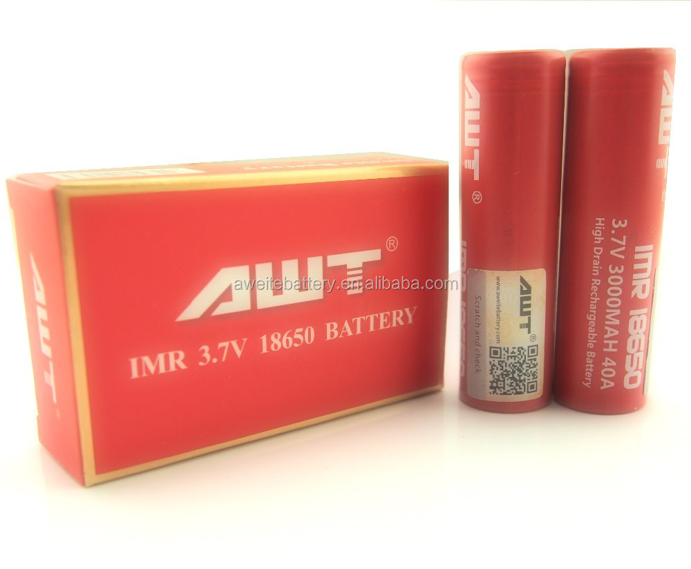 AWT Authentic Box mod 18650 40A 3 7V 3000mAh IMR battery for box vapor mod  150w box mods v3 ecig tug boat mod, View tug boat mod, AWT Product Details