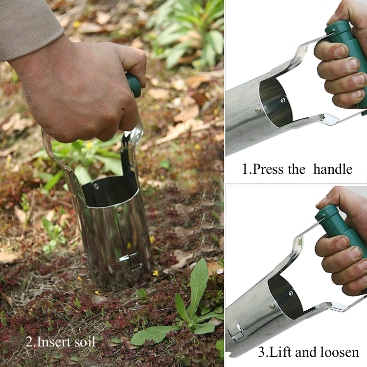Transplant Seedlings <strong>Tools</strong>/ Hand Held Bulb Planter/ Garden <strong>Tools</strong> Bulb Planter