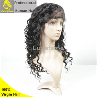Discount price human hair 100 human hair lace front wigs with bangs full lace blonde wig indian remy hair curly lace front wigs