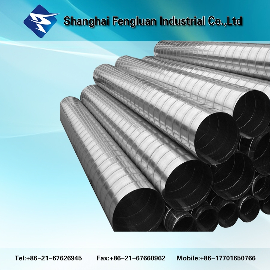 Air Vent Galvanized Spiral Duct Spiral Wind Pipe For