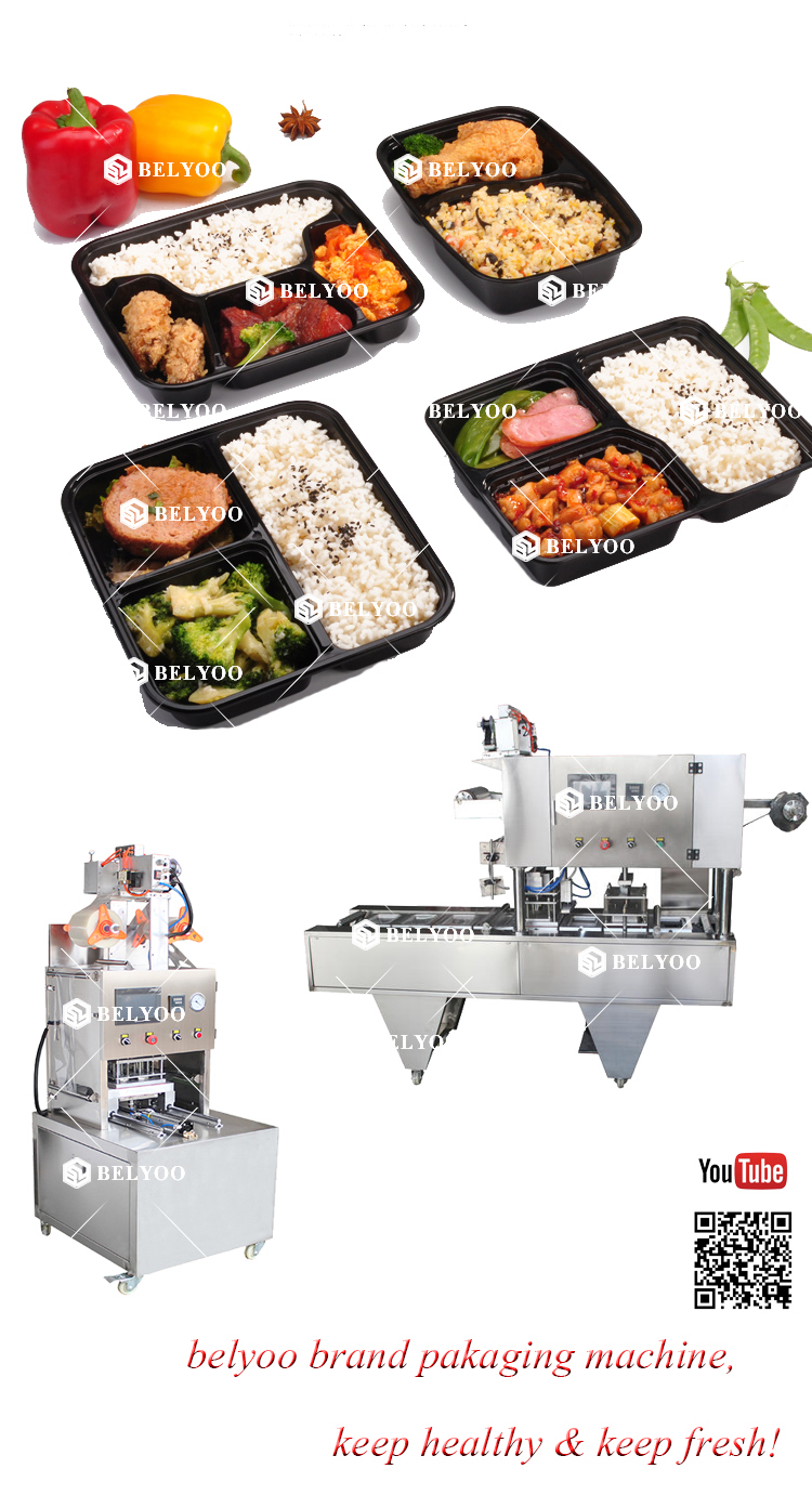 Semi Automatic Tmx The Meal Box Packaging Machine Packaging Machine Food Food Cups Packaging Machine For Lunch Tray