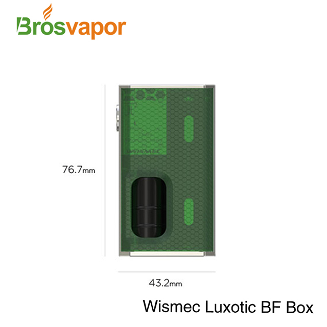 2018 Trending Hot ecig 100W 7.5ML Squonk Wismec Luxotic BF Box with with Tobhino RDA