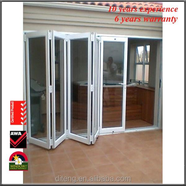 Soundproof Bi Fold South America Interior Glass Doors Laminated Commercial  Interior Door Metal Frame