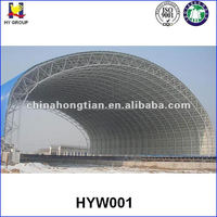 Steel space frame dome storage building