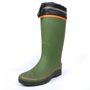 Green mens rain boots for wholesale