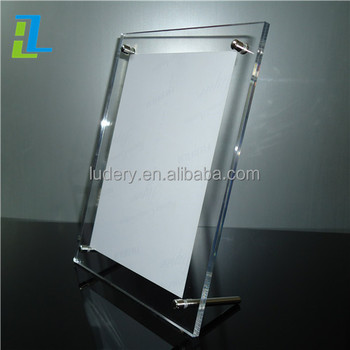 Transparent Acrylic Double Sided Photo Picture Frames 5x7 Glass