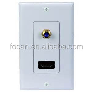 HDMI and Coaxial F Connector Wall Plate (White)