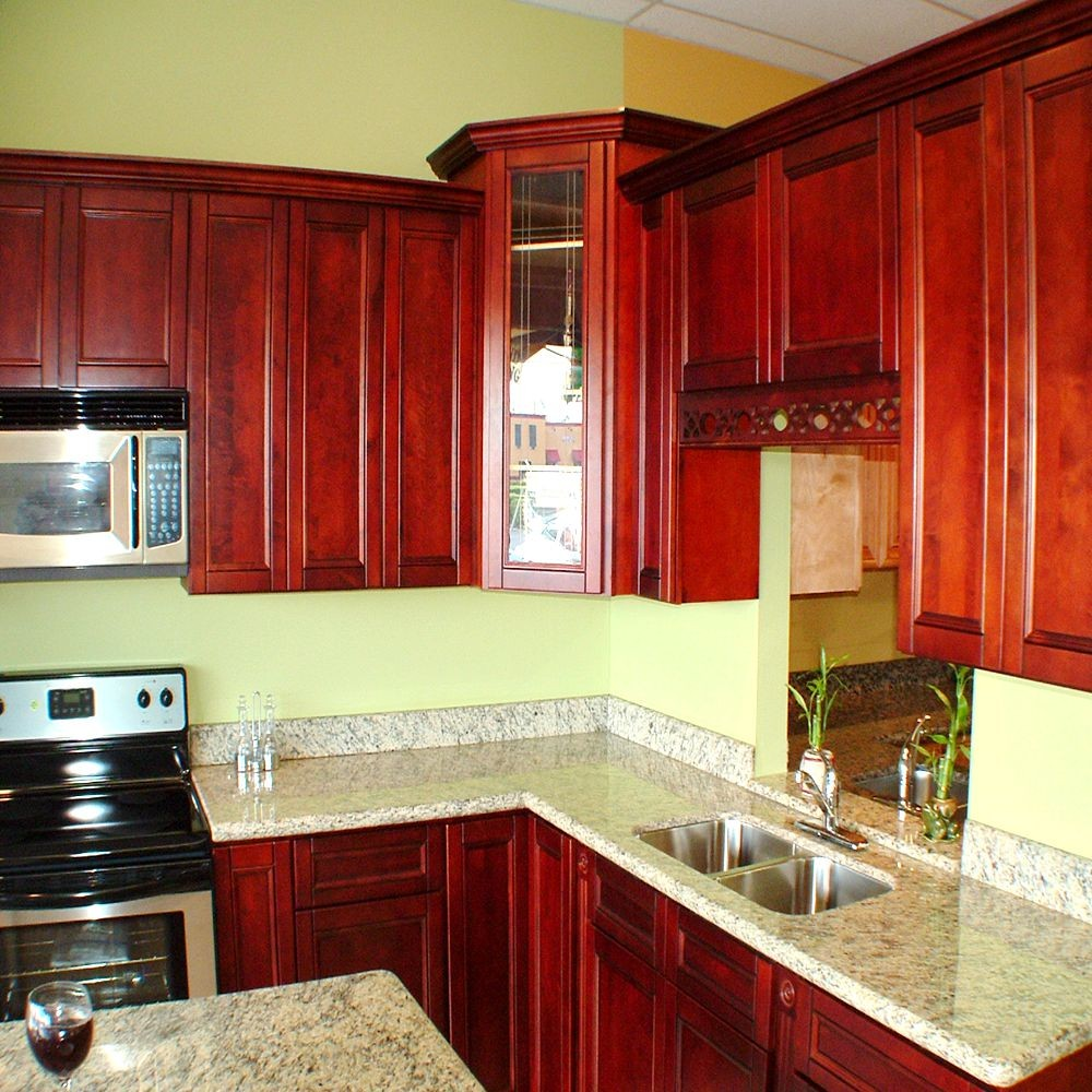 red couch kitchen color ideas red wood stain cabinets New coming