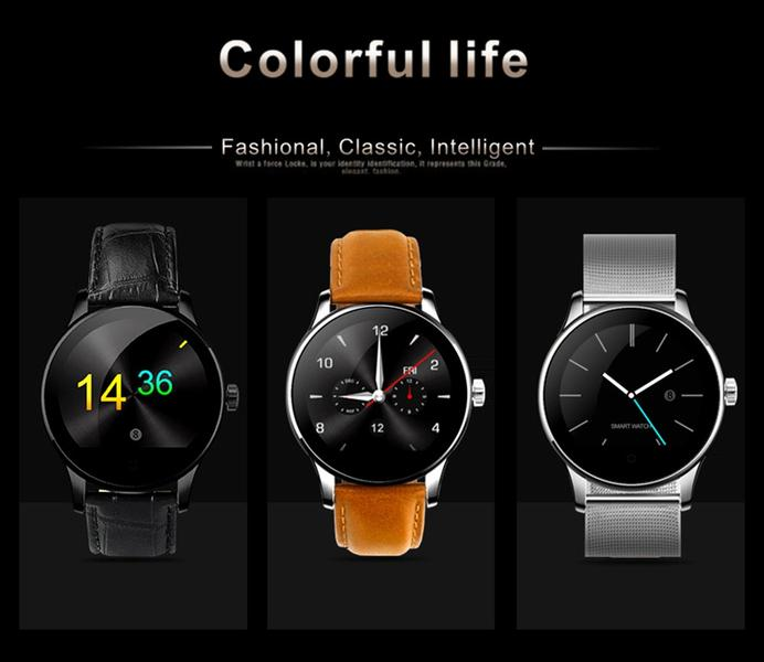 Professional Heart Rate Monitor Waterproof K88H Smart Watch Phone With SIM Slot High Resolution IPS Screen Sport Men Watch