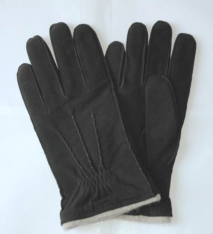 Men's Winter Gloves Pig Suede Leather Working Gloves