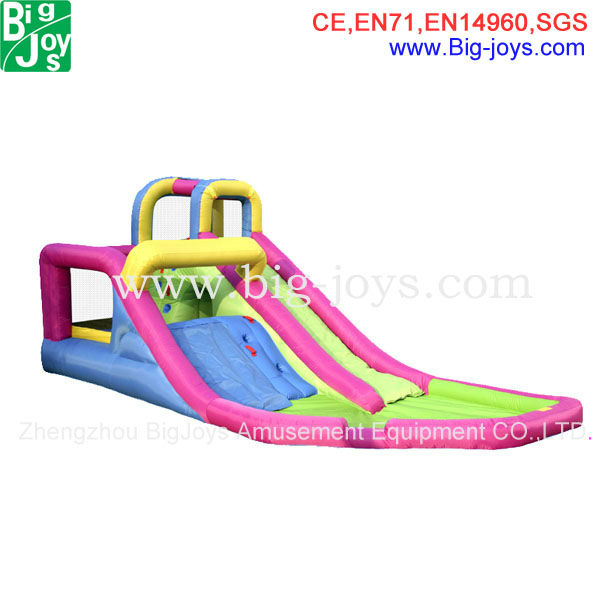 New product attractive style inflatable dry slide for kids and adults