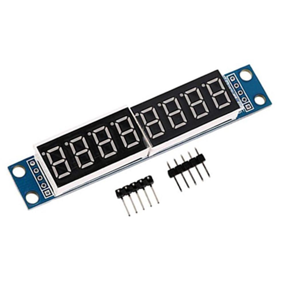 Top Sell MAX7219 LED Dot Matrix 8 Digit Digital Tube Display Control Module 3.3V 5V Microcontroller 7 Segment MAX7219 LED
