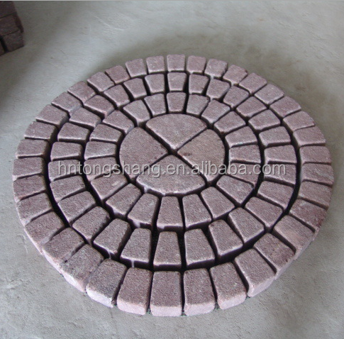 red porphyry granite cube stone paving stone