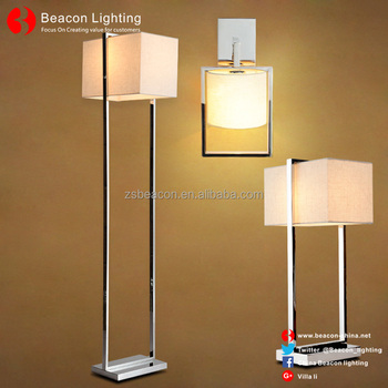 China Factory Wholesale 201/304 Stainless Steel Table Lamp With Fabric  Shade With Led Reading