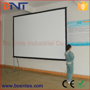 BNT Outdoor / Large Exhibition Hall Rear Projector Fast Fold Projection Screen
