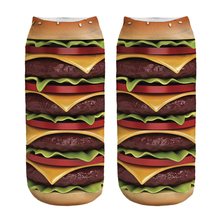 Free Shipping Hot Sale 3D Socks Hamburger Pattern Cozy Socks Thin Comfortable Socks